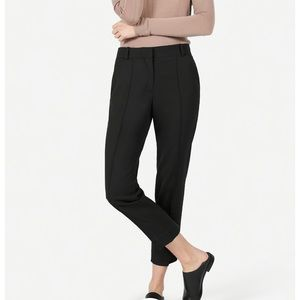 Everlane Italian Go Weave Cropped Trousers Black 2